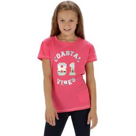 Regatta Bosley T-Shirt Kids Hot Pink
